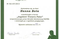 Dyplom Asystent Trenera
